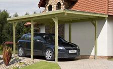 Einzelcarport 3x5 m Carport Garage Holz Unterstand Flachdach Pfosten 9x9x210 cm