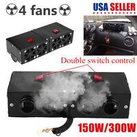 12V 150W/300W 4 Hole Car SUV Heater Warmer Heating Fan Window Defroster Demister