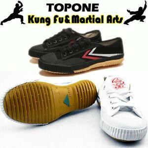 JJK Chaussures Taekwondo Hommes PU Cuir Souple Sole Chaussures De Boxe Taichi Arts Martiaux Sneaker Respirant Gym Exercise Chaussures pour Adultes Et Enfants,Rouge,35