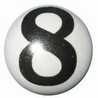 VINTAGE SHABBY CHIC CREAM BLACK WHITE CERAMIC CUPBOARD DOOR KNOBS DRAWER KB04
