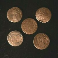 LOT OF 5 X Solidus Szelag Schilling Johann II Casimir 1648-1668 Poland Coin, VG