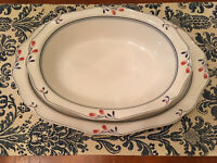 Noritake Copper Bud Oval Platter AND Serving Vegetable Bowl BOTH PIECES VG 7911