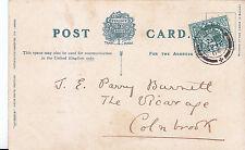 Genealogy Postcard - Family History - Barnett? - The Vicarage - Colnbrook  V570
