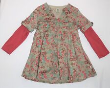 Pumpkin Patch Lined Floral Print LS Taupe Dress, 6