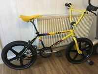 Raleigh Burner Team Styler Banana Carbo Spec R Cut Out Frame/forks BMX 1986