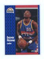 1991-92 Fleer 277 Dikembe Mutombo Denver Nuggets Rookie Card