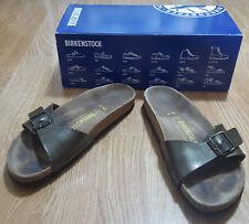 Birkenstock Relax Marrone Madrid Cinturino unico Germany pantofola unisex  UK 6 EUR 37 453e0dc04c1