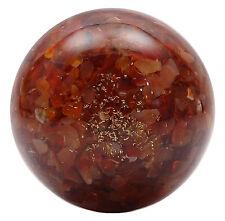 Sphère boule cornaline Pierre Reiki, équilibrage des pierres de guérison
