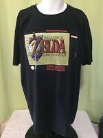 Legend of Zelda Link to the Past Super Nintendo Men's Black T Shirt Size 2XL