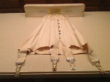Ladies Corset Antique Lace Justrite Garter Straps W/ Original Box Early 1900's