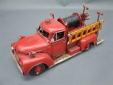 Vieux Pompier Maquette de Voiture en Tôle 30 CM Ancienne Camion US Car