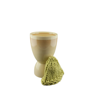 Vtg Myott Staffordshire Eggcup and Knit Egg Hat FREE SHIPPING Double Ended