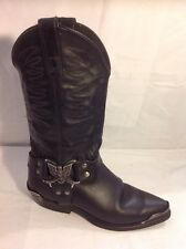 Miss Capezio Black Mid Calf Leather Boots Size 4