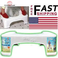 Step and Go Bathroom Squatty Toilet Potty Aid White 7'' Tub Shower Foot Stop