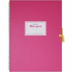 Maruman Art Spiral Sketch Book F4 Pink From Japan