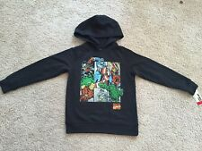 New Epic Threads Boys Marvel Comics Pullover Hoodie Black. Size S
