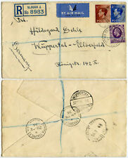 Gb 1936 K. Edward 8th Franking Registered Airmail Slough Trading Estate Germany