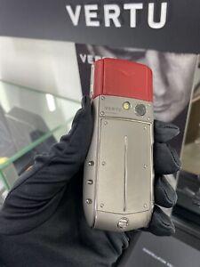 Original Brand Vertu Ascent Ti Red Unlocked, Cellular Phone, Stylish, Luxury