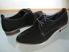 NEW $140 M4D3 OSAKA Black Velvet Women Fashion Pumps Flats Oxfords 7.5 M