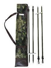 4 x Hide Poles Inc. Camo Bag Solid Pole Kit Set Pigeon Shooting Telescopic
