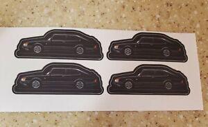RARE SAAB 900 TURBO stickers LOT of 4