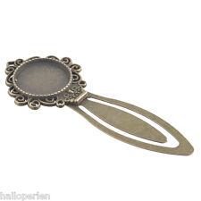 DIY 1PC Retro Oval Metal Alloy Bronze Bookmark Document Book Mark Label