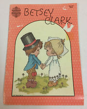 Vintage Betsey Clark Counted Cross Stitch Pattern Book Hallmark 12 Designs 1983