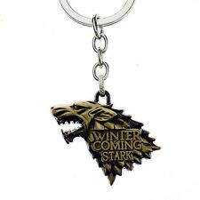 Game of thrones House Stark Song of Ice and Fire Bronze Key Rings Keychain
