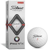 Titleist Pro V1X High Number Golf Balls 2019 - 1 Sleeve (3 Balls)
