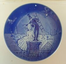 "Old Copenhagen Blue Plate: Hans Christian Anderson ""Shepherdess & Chimney Sweep"""