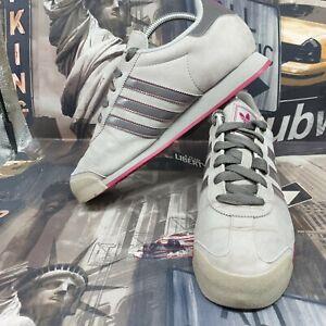 adidas womens samoa trainers size 6.5 grey pink shoes sneakers eu 40