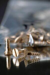 Wood Screws Slotted Flat Head Bronze #6 x 5/8 WSB658