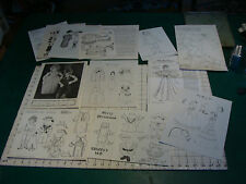 group of paper dolls, you get what you see, big lot