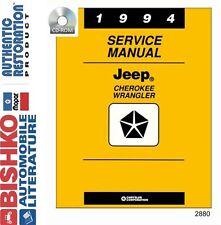 1994 Jeep Cherokee Wrangler Shop Service Repair Manual CD Engine Drivetrain OEM