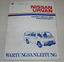 Werkstatthandbuch Nissan Urvan E24 E 24 Elektrik Kupplung Motor Stand Juli 1989!