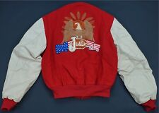 Rare VTG Justin Tubb Back To The Legend 1979 Wool Leather Varsity Jacket 70s 80s