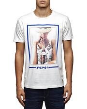 JACK & JONES Pepsi Tee Cloud Dancer Combo T-Shirt Bianca Con Stampa Pepsi Cola 1