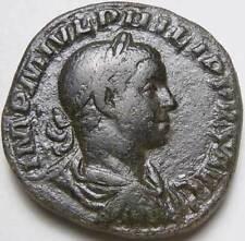 Philip II as Augustus Roman Sestertius Pax 247 -249 AD