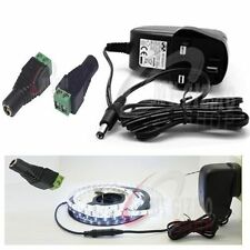 DC 12V power supply  Adaptor  for LED Strip 5050 3528 RGB 1.5A UK Transformer AC