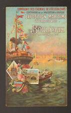 BORDEAUX : AFFICHE FERROVIAIRE ORLEANS , EXPO. MARITIME
