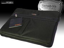 "SAMSONITE Executive LapTop Sleeve Case Leather Polyester BLACK LABEL OPTO 17"" 44"