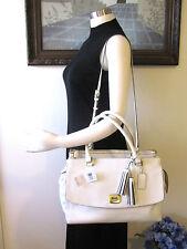 NWT Coach 25356 Leather Large White Harper Triple Zip Satchel MSPR $598 Gorgeous
