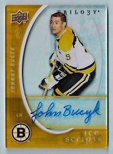 JOHNNY BUCYK 2008/09 TRILOGY ICE SCRIPTS SIGNATURE AUTOGRAPH AUTO