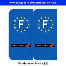 Sticker plaque dodge F (jeu de 2 stickers)