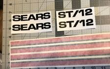 Sears Suburban decals set ST/12 Black Double Red Stripes 6 In Set