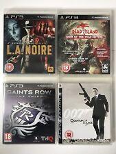 Juegos De PS3 - 007 de Quantum Solace + + L.A. Noire isla muertos + Saints Row el tercer (787)