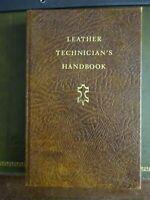 LEATHER TECHNICIAN'S HANDBOOK 1971-J.H. SHARPHOUSE--FREE POSTAGE AUSTRALIA