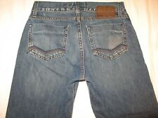 Energie Buckley Mens Jeans Low Rise Straight Dark Distressed 28 X 30