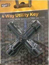 4 Way Utility Key Water/Electricity/Gas Cabinet's Key Radiator Key Meter Box Key