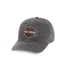 Harley-Davidson-Gorra De Béisbol-Totalmente Nuevo-Hat-Sun Visor pico con logotipo desgastado